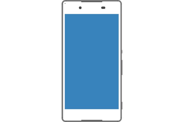 Android系の白いスマートフォン