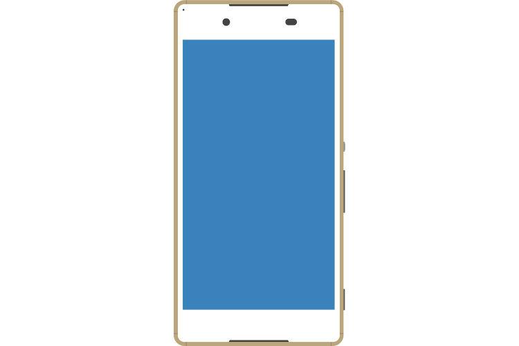 Android系のゴールドなスマートフォン