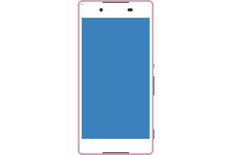 Android系のピンクなスマートフォン