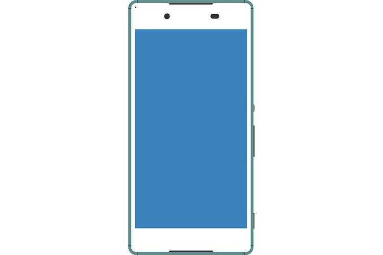 Android系のターコイズ色なスマートフォン