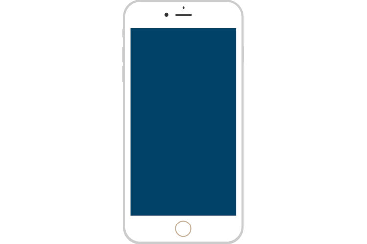 iPhone風スマートフォンのホワイト