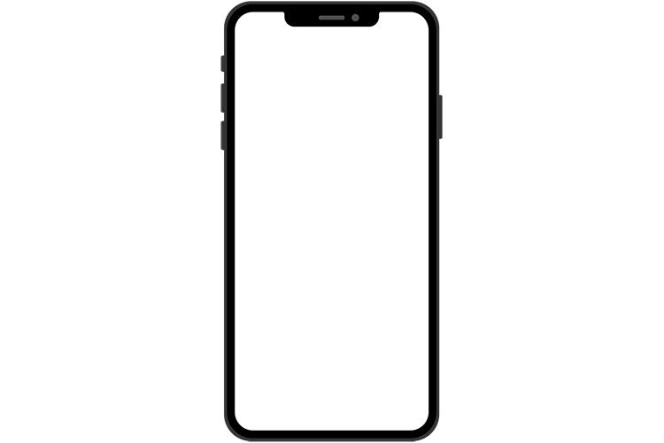 ノッチデザインなブラック系スマートフォン